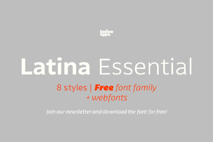 Latina Essential Free Typefamily