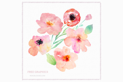 Free Spring Watercolor Flowers — Free Design Resources