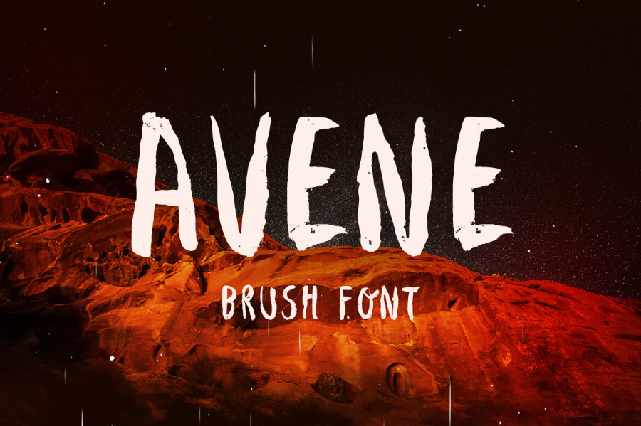 Avene Brush Free Typeface