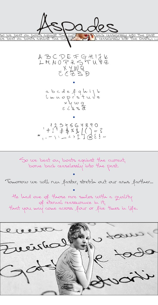 Aspades Handwriting Free Font