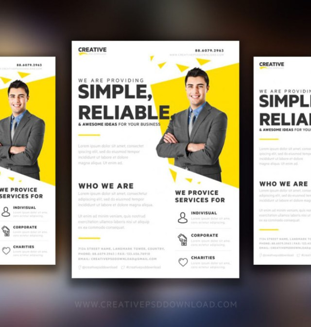creative marketing flyer template free design resources