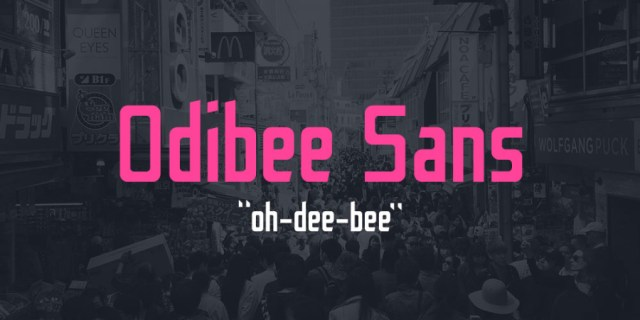 Odibee Sans Free Typeface