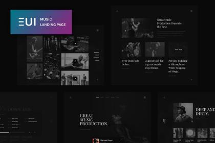 Free Music App Landing Page