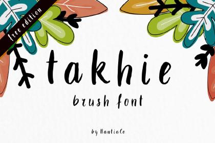 Takhie Brush Free Typeface