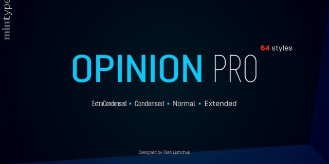 Opinion Pro Typeface Free Demo