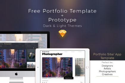 Free Portfolio Prototype Template