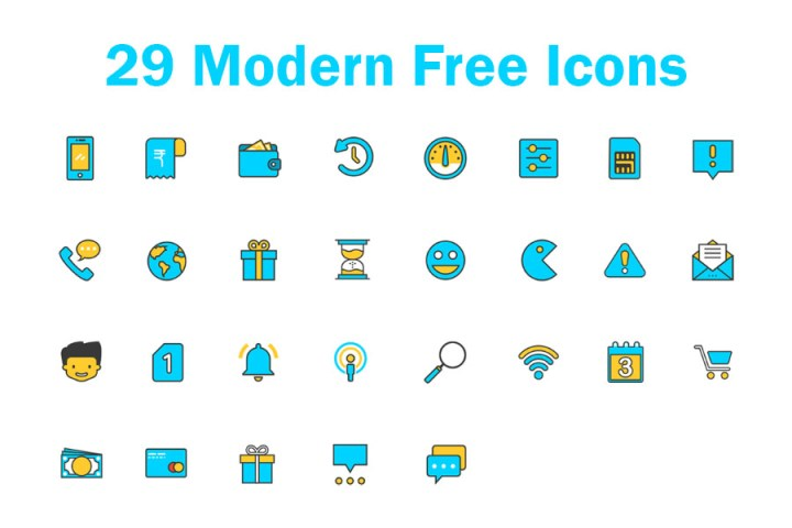 29 Free Modern Sketch Icons