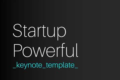 Startup Powerful Keynote Template