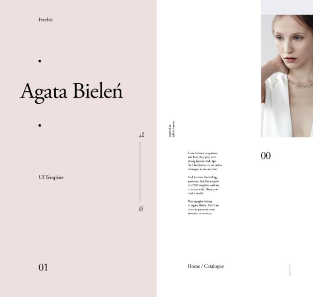Agata Bielen Online Magazine Template