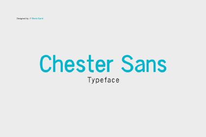 Chester Typefamily Free Demo