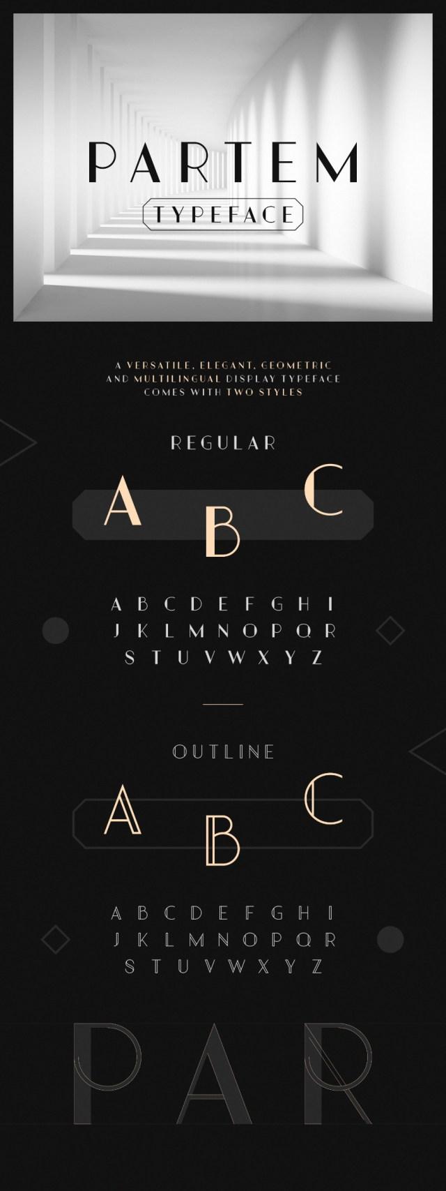 Partem Typeface Free Demo