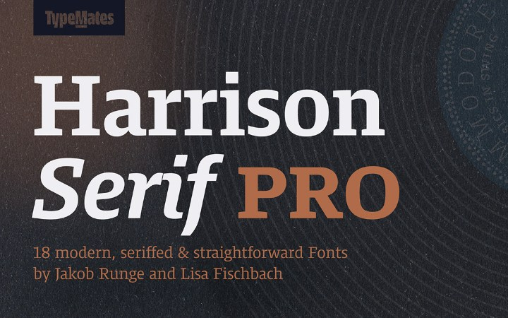 Harrison Serif Pro Free Demo