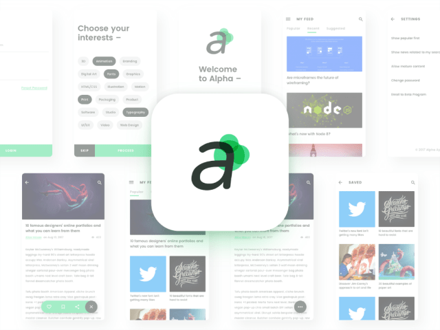 Alpha Free Sketch UI Kit