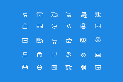 45 Ecommerce Essential Icons
