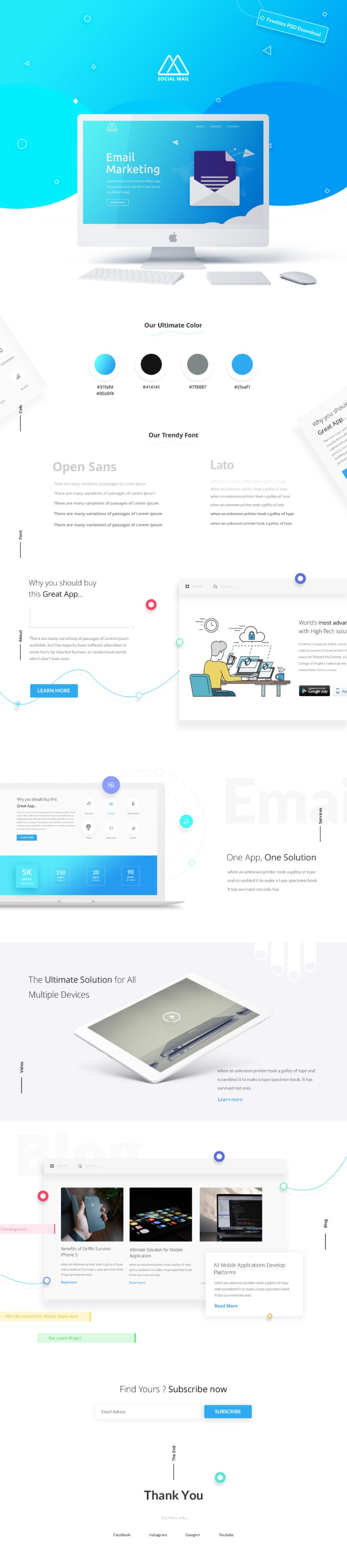 Email Newsletter Free Psd Template Free Design Resources