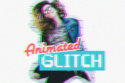 Free Animated Glitch Photoshop Action