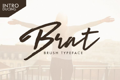Brat Script Free Typeface