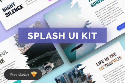 Splash Free Sketch UI Kit