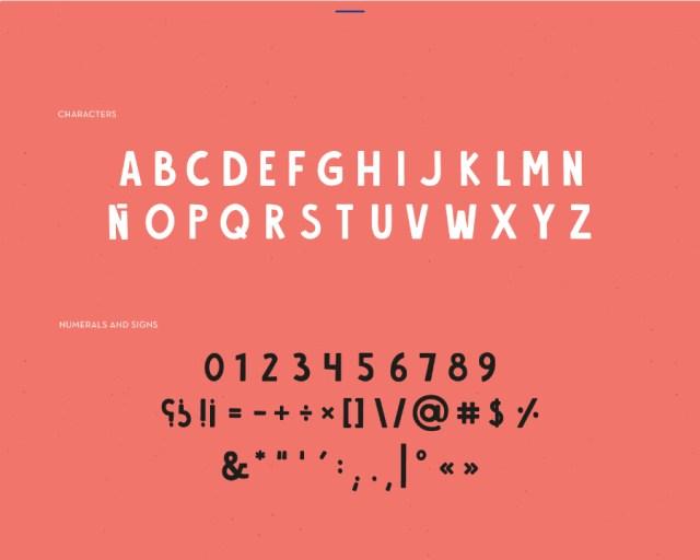 Alvania Sans Free Typeface