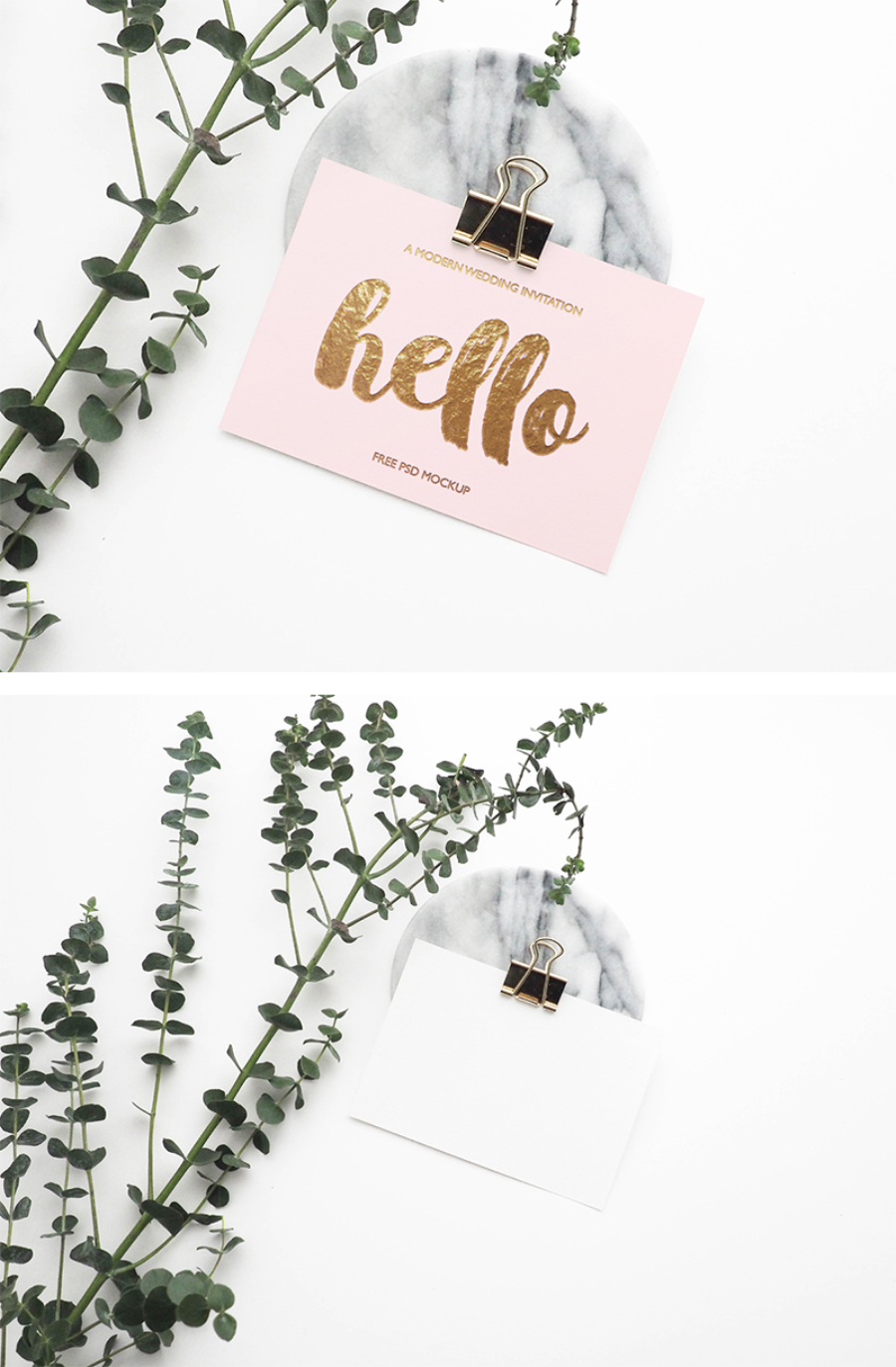 Free Stylish Greeting Card Mockup