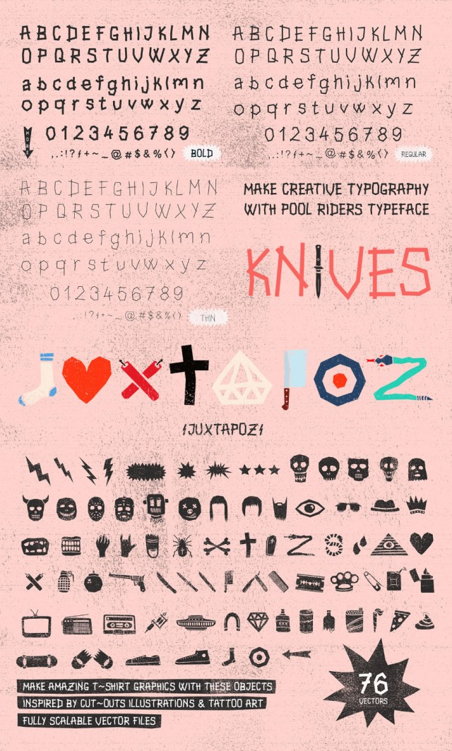 Pool Rider Free Typeface