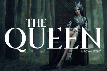 Queen Free Serif Font