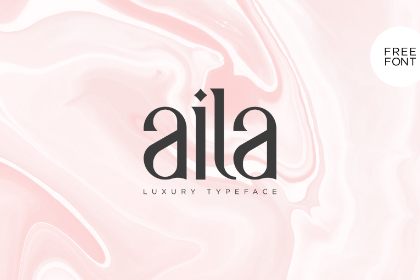 Aila Free Luxury Typeface