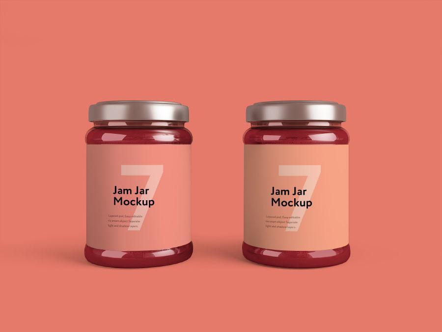 Jam Jar Mockup Free Sample