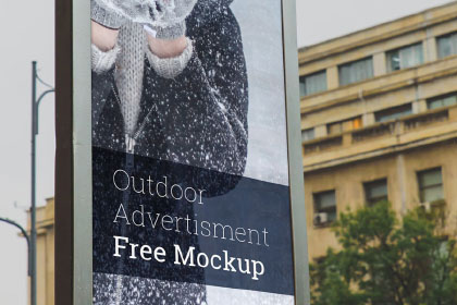 Outdoor Advertising Free Mockup