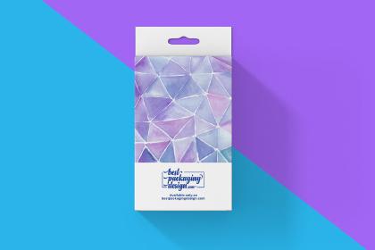 Free Rectangle Hanger Box Mockup