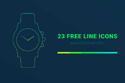 Free Watch Features Linear Icons