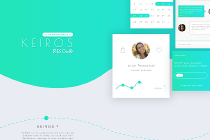 Keiros Free Mobile App UI Kit