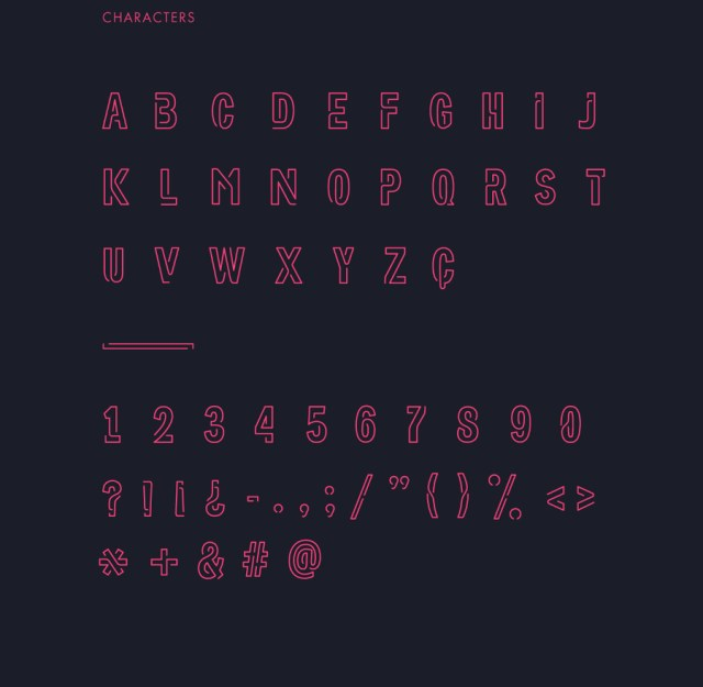 Neoneon Display Free Typeface