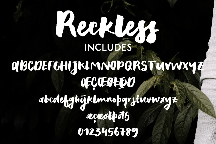 Reckless Thick Brush Font Demo