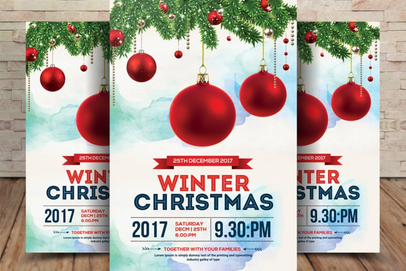 free christmas winter flyer free design resources