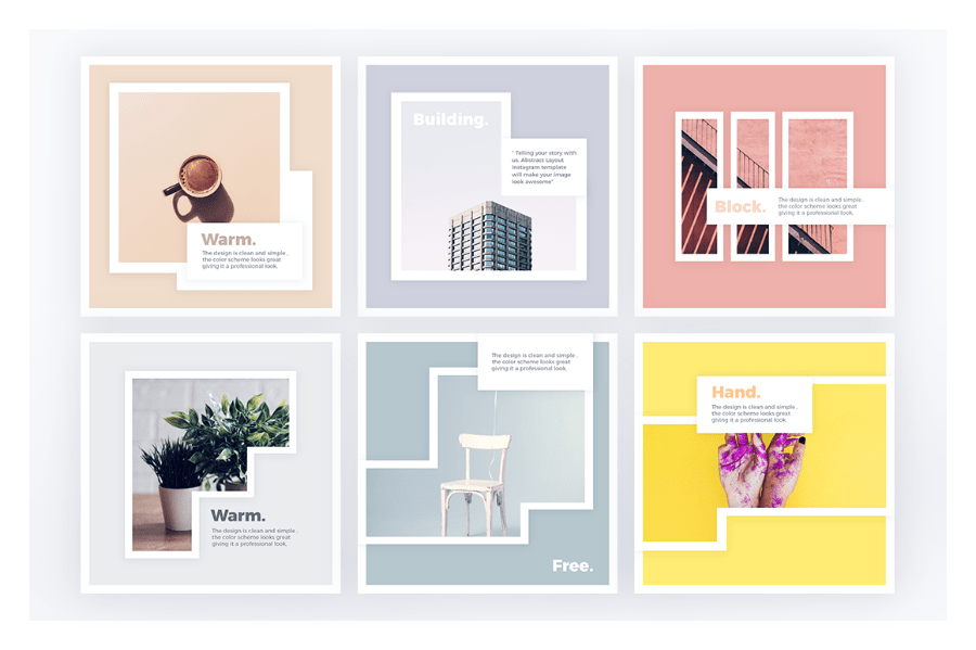 Freebie Abstract Instagram Layout