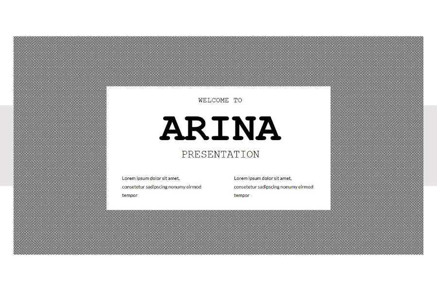 Arina Presentation Template Demo