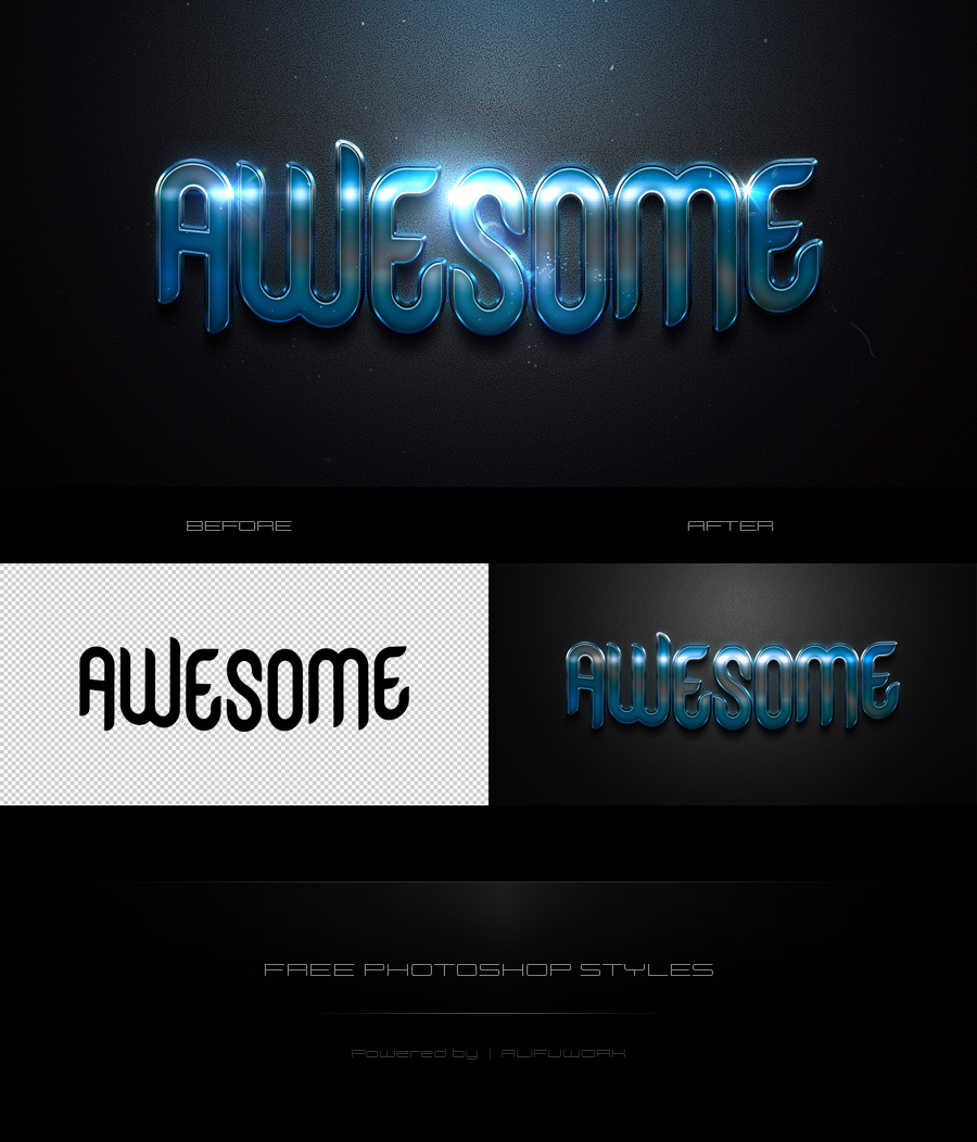 Awesome Photoshop Text Effect