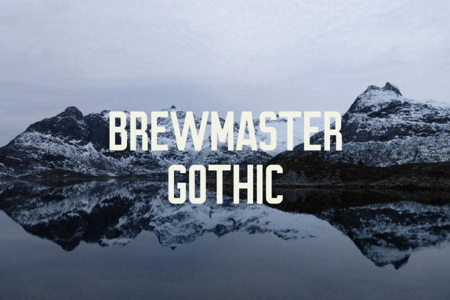 Brewmaster Gothic Free Demo