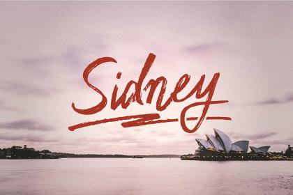 Sidney Free Handwriting Typeface