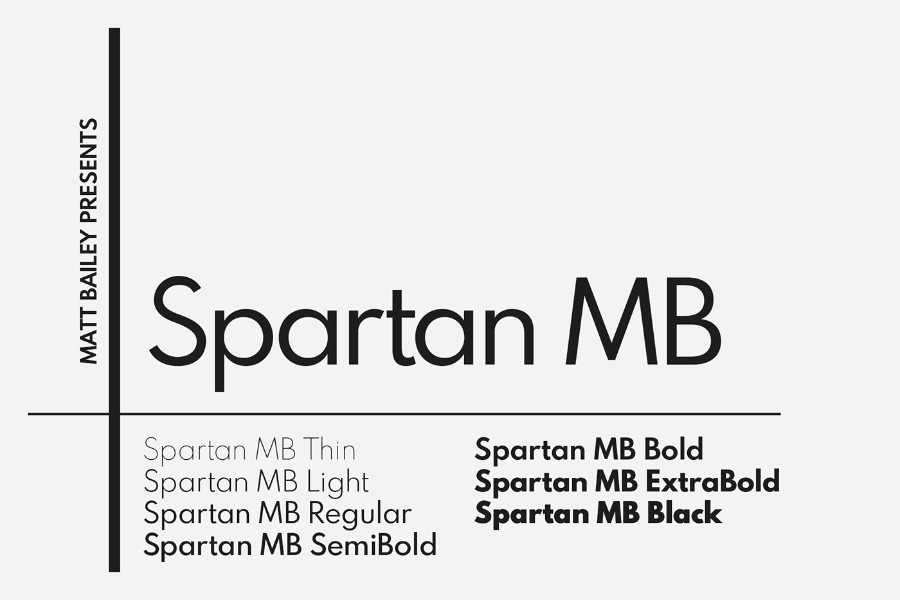 Spartan MB Free Font Family