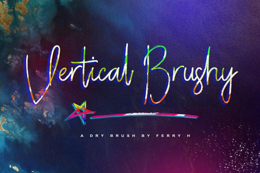 Vertical Brushy Font Demo