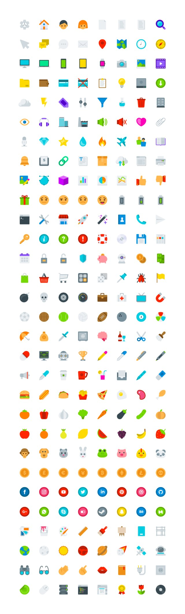 Colocons Free 240 Flat Icons