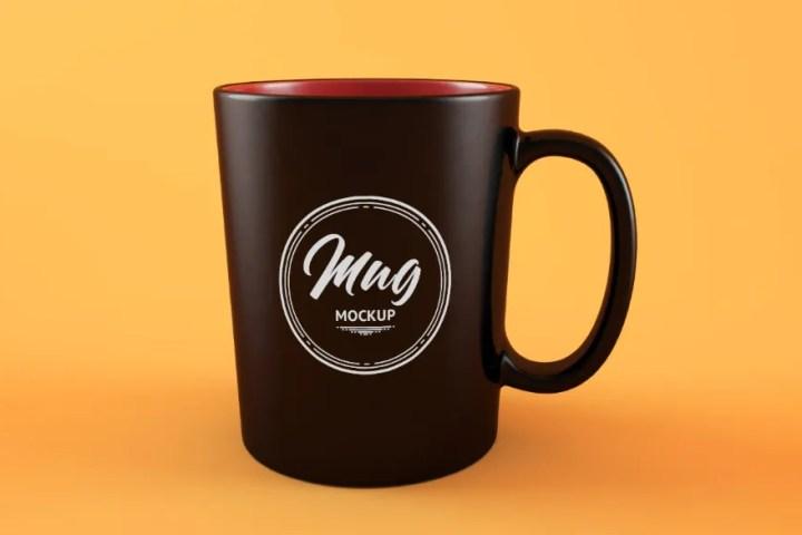 Free Clean Coffee Mockup