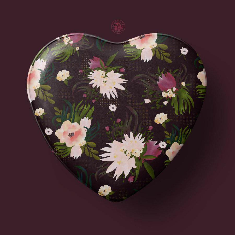 Dark Flower Seamless Pattern