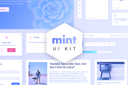 Mint Free Modern Sketch UI Kit