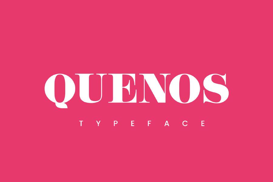 Quenos Bold Serif Font