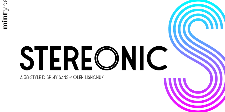 Stereonic Free Font Demo