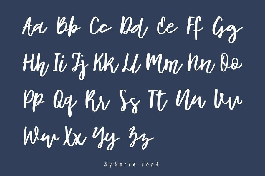 Syberic Script Font Demo