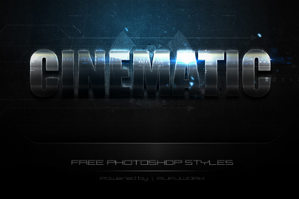 iChrome Free Photoshop Effect — Free Design Resources